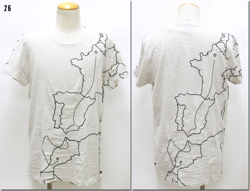 SCOTCH&SODA 【スコッチ&ソーダ】 マップ刺繍Tシャツ 半袖 282-23414