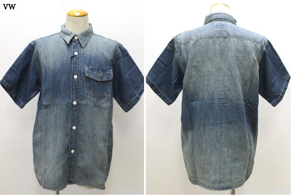 3 980円 税込 以上購入で送料無料 HOUSTON ヒューストン コットン ワークシャツ リネン 7オンス ストア 半袖 男女兼用 40841 デニム