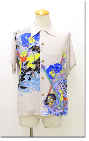 SUN SURF 【サンサーフ】 浮世水滸伝龍虎アロハシャツ ハワイアンシャツ 半袖 SS32951