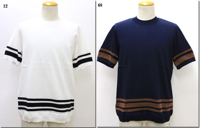 TOMORROWLAND 【トゥモローランド】 tricot ランダムライン ニットTシャツ 63-02-81-02136