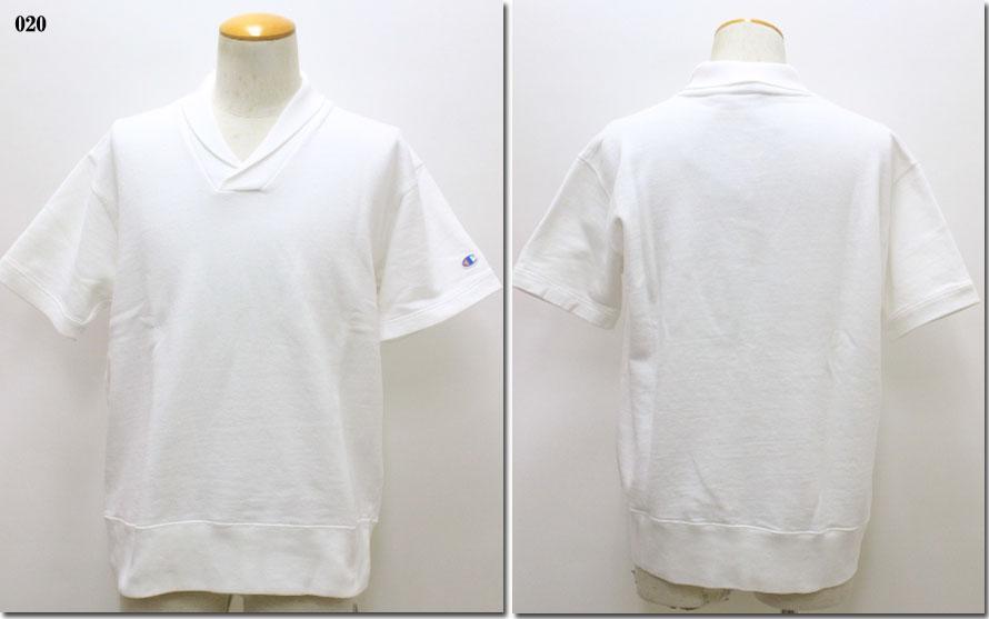 【チャンピオン】 【10P09Jul16】 ショールカラーショートスリーブスウェットシャツ Champion C3-M009 ロチェスターチャンピオン