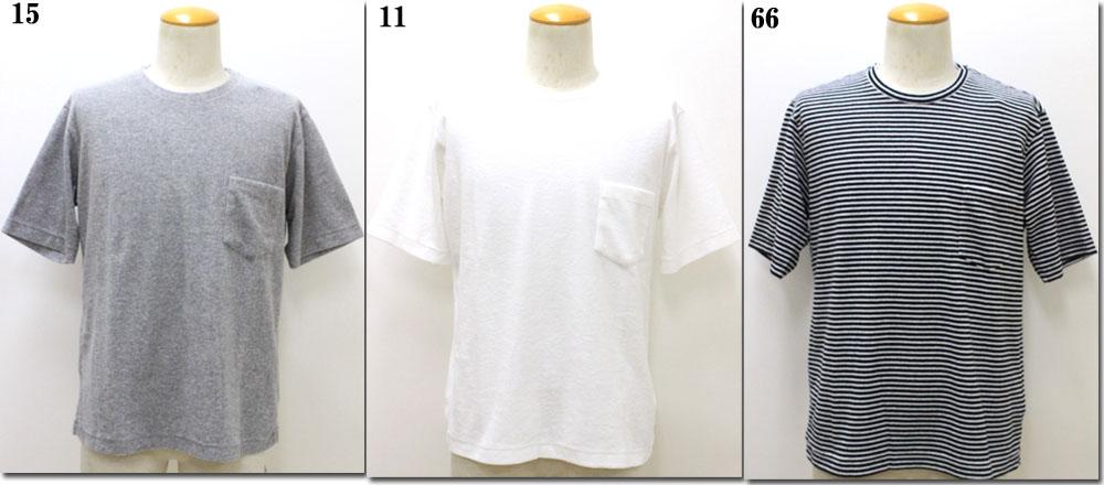 TOMORROWLAND 【トゥモローランド】 1.5mmパイル クルーネックポケットTシャツ 63-11-82-11303
