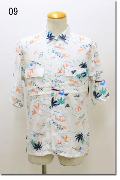 vital MONSIEUR NICOLE 【ヴィタルムッシュニコル】 プリントオープンカラーシャツ  8269-8126