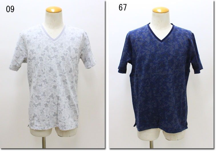 MONSIEUR NICOLE 【ムッシュニコル】 ボタニカルJQ半袖Tシャツ 8262-9004