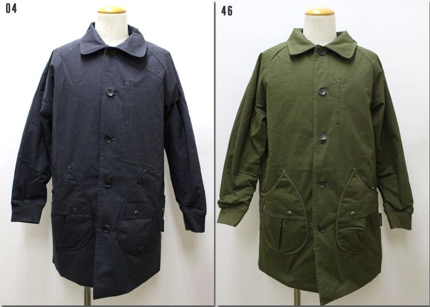 gym master 【ジムマスター】ドロップポケットコート ステンカラーコート ジャケット 中綿 G157686