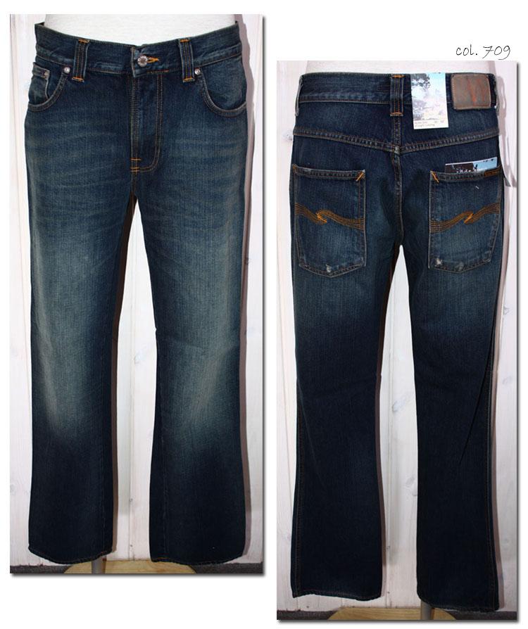 NUDIE jeans 【ヌーディージーンズ】 ストレートデニム SLIM JIM straight tubeleg CRISPY SCRAPED  30161-1347 【10P09Jul16】