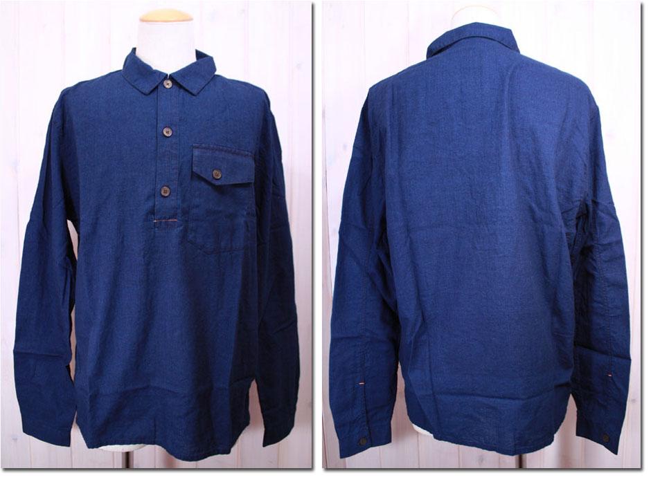 NUDIE jeans 【ヌーディージーンズ】 インディゴスキッパー長袖シャツ 33161-3012 【10P09Jul16】