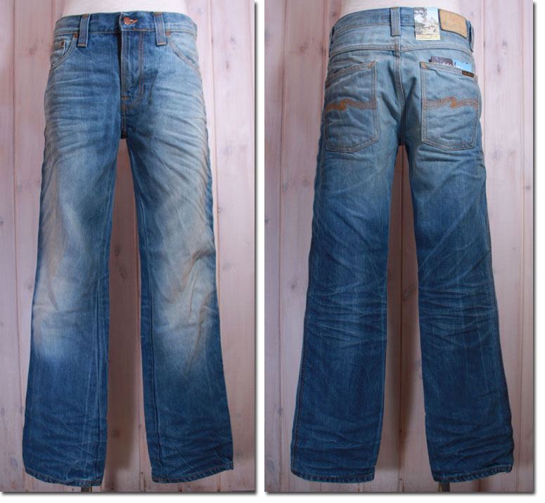 NUDIE jeans 【ヌーディージーンズ】 SLIM JIM straight tubeleg ORG.CRISPY WORN IN ユーズド加工ジーンズ   33161-1239 【10P09Jul16】