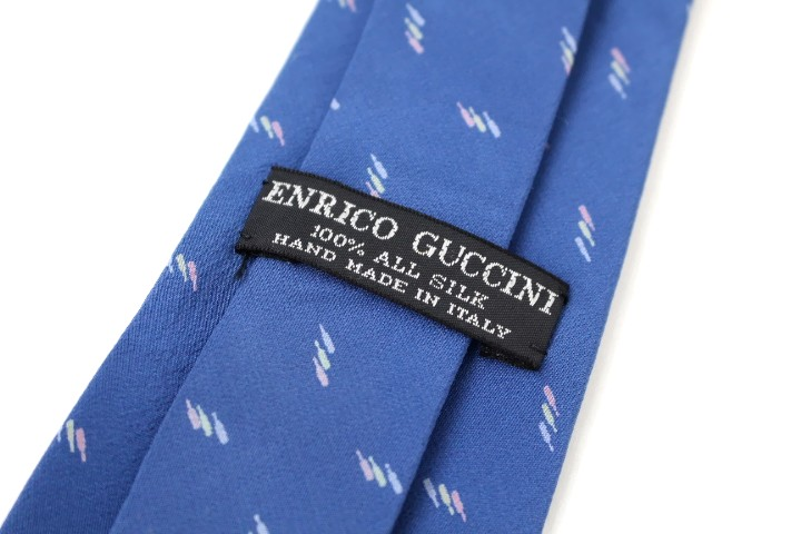 Used brand clothes tie Yen pokkiri ENRICO GUCCINI pattern tie good brand mens suits postage just a duck (* Hokkaido, Okinawa and remote islands is needed) * * father's day gifts