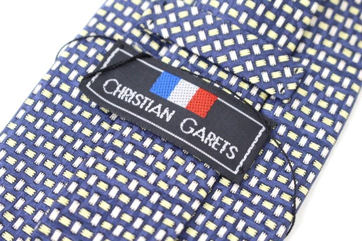 Used brand clothing ties Yen pokkiri CHRISTIAN GARETS Christian galley lattice pattern tie good brand men's suit free shipping (* Hokkaido, Okinawa and remote islands is needed) * * presents