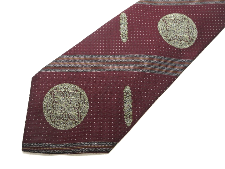 Brand old clothes tie YUKISABURO WATANABE Saburo Yuki Watanabe whole pattern tie quality goods men present ※Only as for the collect on delivery, in Okinawa, the remote island, the road pivot according to the postage is impossible