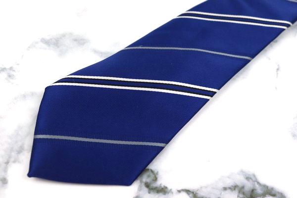 シンプルフレーズクラバット SIMPLE PHRASE CRAVAT ブランド ネクタイ ブルー 中古 激安特価品 ポリエステル 美品 送料無料 蔵 ストライプ柄