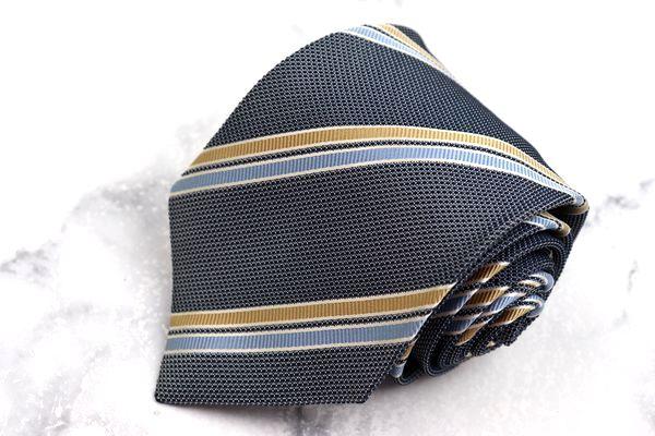 至高 ヘンリーコットンズ Henry Cotton's ブランド ネクタイ ゆうパケット 送料無料 日本製 中古 今だけ限定15%OFFクーポン発行中 ネイビー ストライプ柄 良品 シルク