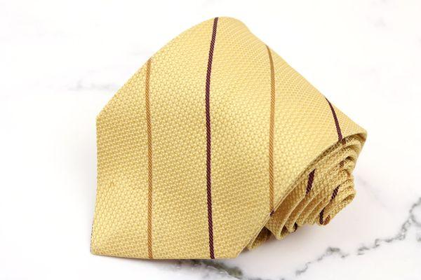 チャップスラルフローレン CHAPS Ralph Lauren 格安店 ブランド ネクタイ ゆうパケット シルク 送料無料 良品 ストライプ柄 ベージュ 日本製 格安 中古