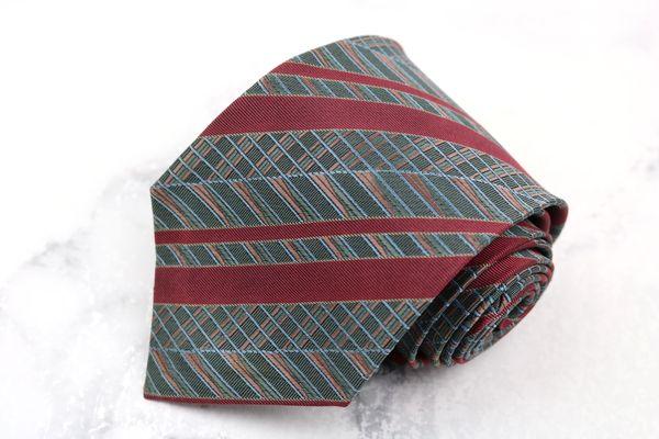 銀座田屋 人気ブレゼント GINZA TAYA ブランド ネクタイ ゆうパケット 送料無料 中古 良品 セールSALE%OFF ストライプ柄 刺繍 シルク グレー