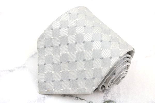 ヘンリーコットンズ Henry Cotton's ブランド ネクタイ ゆうパケット 送料無料 ドット柄 日本製 セール 特集 良品 安心と信頼 刺繍 中古 格子柄 シルク グレー