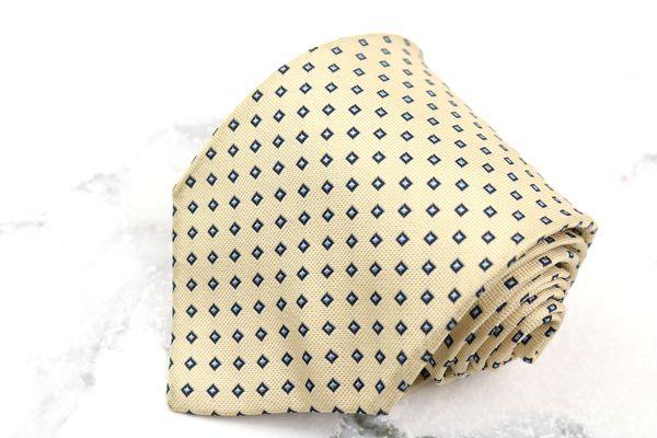 チャップスラルフローレン CHAPS Ralph Lauren ブランド ネクタイ ゆうパケット 送料無料 シルク 中古 ベージュ ドット柄 販売実績No.1 日本製 売れ筋 良品 スクエアドット 刺繍
