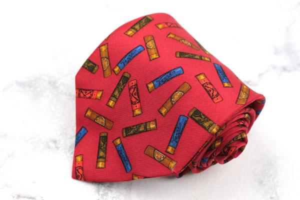 ジャンフランコフェレ GIANFRANCO FERRE ブランド ネクタイ ゆうパケット 送料無料 イタリア製 総柄 限定モデル 贈り物 良品 シルク 中古 レッド