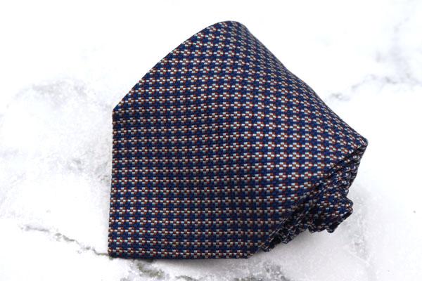 チャップスラルフローレン 信憑 CHAPS Ralph Lauren ブランド ネクタイ ゆうパケット シルク 中古 日本製 良品 チェック柄 ネイビー 新作続 送料無料
