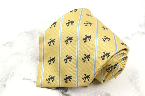 毎日がバーゲンセール ディズニー Disney ブランド ネクタイ ゆうパケット 送料無料 良品 最安値挑戦 シルク ミッキー 中古 キャラクター柄 イエロー