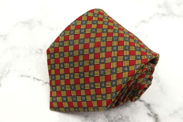 ニューヨーカー 定番キャンバス 格安 価格でご提供いたします NEWYORKER ブランド ネクタイ ゆうパケット 送料無料 格子柄 中古 シルク 良品 日本製 ブラウン