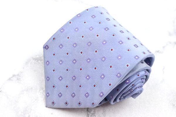 フェアファクス FAIRFAX ブランド ネクタイ ゆうパケット 送料無料 シルク ハンドメイド 日本製 良品 授与 パープル 中古 小紋柄 買い取り