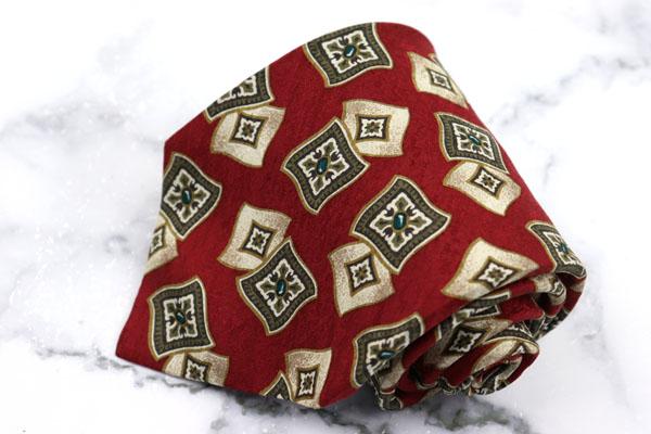 希少 ヘンリーコットンズ Henry Cotton's イタリアスポーツブランド ブランド ネクタイ ゆうパケット 中古 送料無料 ハンドメイド ブランド買うならブランドオフ 小紋柄 ブラウン 美品 シルク