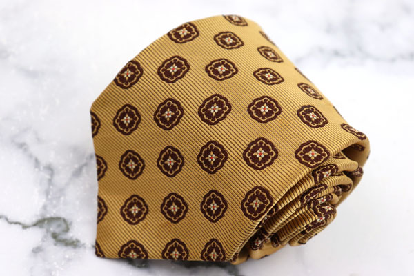 タルブ TULB ブランド ネクタイ ゆうパケット 送料無料 シルク 良品 入荷予定 通信販売 中古 小紋柄 日本製 ブラウン