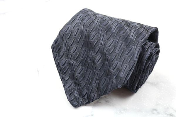 プリマクラッセ PRIMA CLASSE ブランド ネクタイ ゆうパケット 送料無料 最安値に挑戦 中古 シルク 美品 総柄 伊製 チープ グレー