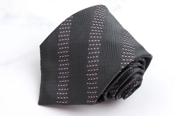 エスティーデュポン S.T. Dupont ブランド ネクタイ ゆうパケット 送料無料 ドット柄 伊製 シルク ギフト ストライプ柄 現金特価 美品 中古 グレー