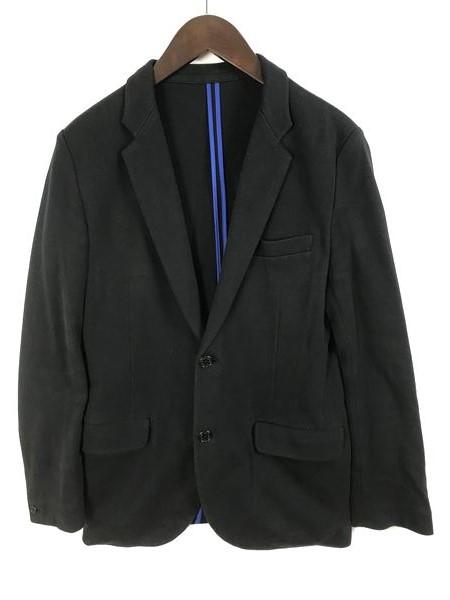 [良品] ビームス BEAMS Lサイズ 無地 テーラードジャケット メンズ シングル 2ボタン ブラック ブランド古着 【中古】