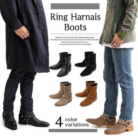 ブーツ メンズ ブーツ・シューズ glabella グラベラ リング ハーネス 靴 紳士靴 ※fu