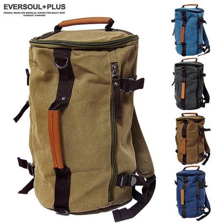 リュック デイパック メンズ バッグ リュックサック ボストンバッグ ショルダーバッグ 3WAY使い キャンバス地 バックパック デイバッグ 鞄 旅行 アウトドア