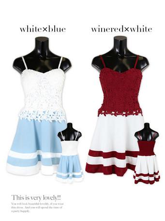 ドレス レディース 大きいサイズあり ガーリースタイル 刺繍 フラワー ガーリー フレア ミニドレス レディースファッション