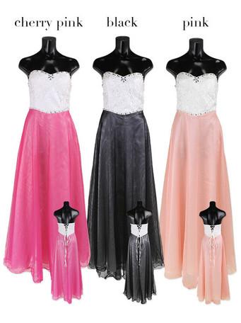 ドレス レディース シフォン 花柄 刺繍 レースアップ チュール ロングドレス レディースファッション