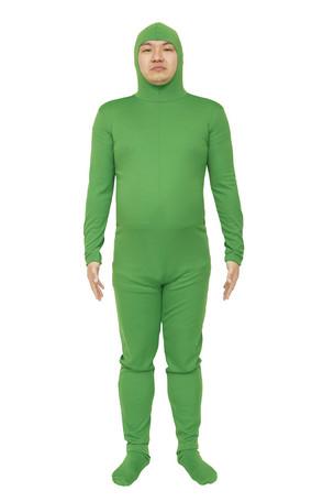 コスプレ レディース ハロウィン グッズ 仮装 のびのび全身タイツくん 緑 M レディースファッション パーティ イベント 衣装 コスチューム
