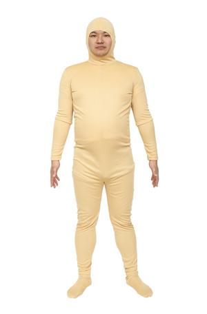 コスプレ レディース ハロウィン グッズ 仮装 のびのび全身タイツくん 肌色 L レディースファッション パーティ イベント 衣装 コスチューム