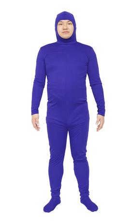 コスプレ レディース ハロウィン グッズ 仮装 のびのび全身タイツくん 青 M レディースファッション パーティ イベント 衣装 コスチューム