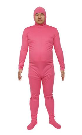 コスプレ レディース ハロウィン グッズ 仮装 のびのび全身タイツくん ピンク L レディースファッション パーティ イベント 衣装 コスチューム