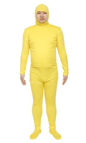 コスプレ レディース ハロウィン グッズ 仮装 のびのび全身タイツくん 黄色 L レディースファッション パーティ イベント 衣装 コスチューム