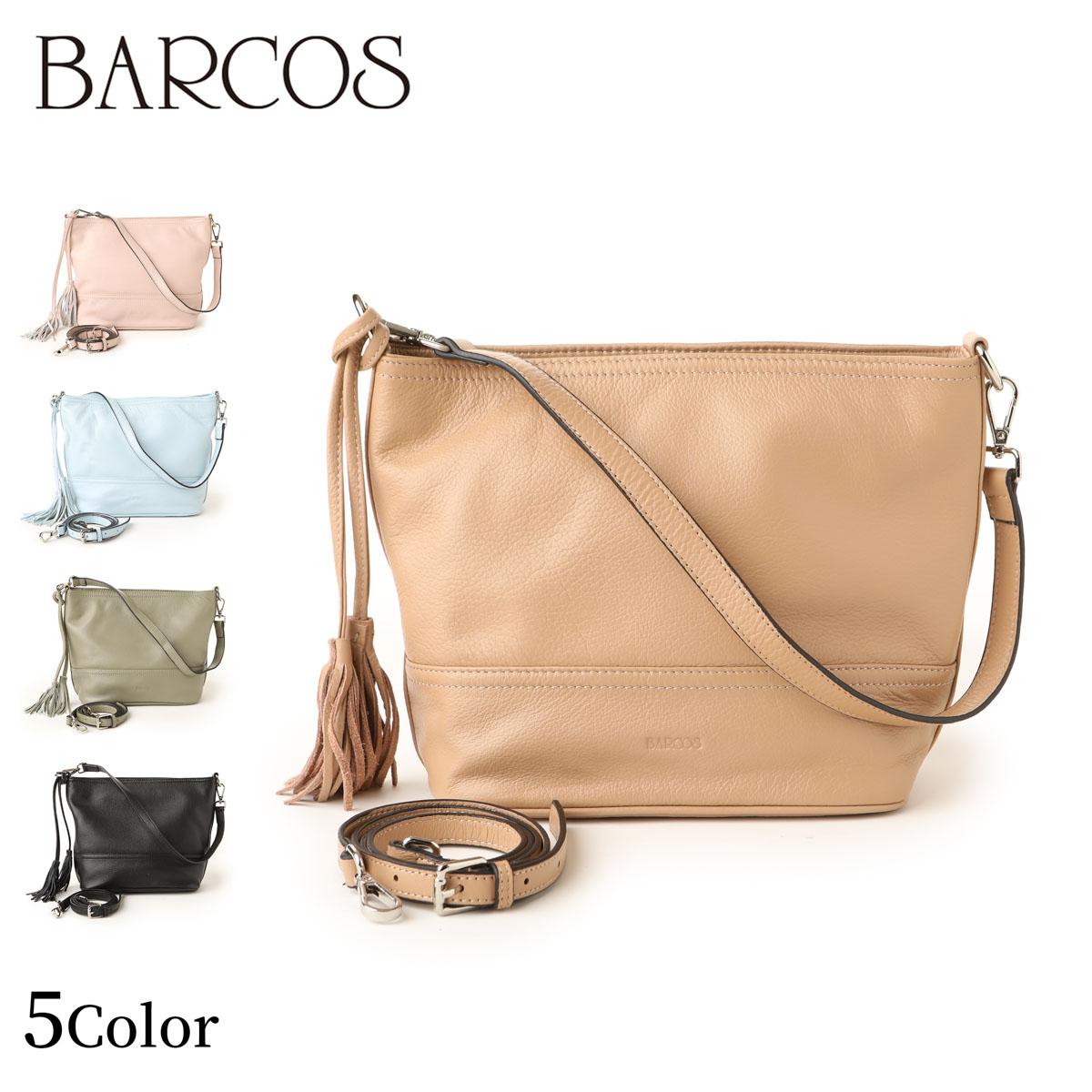 BARCOS シュリンクレザーチャーム付き2WAYハンドバッグ レディース 全5色 ONESIZE バルコス