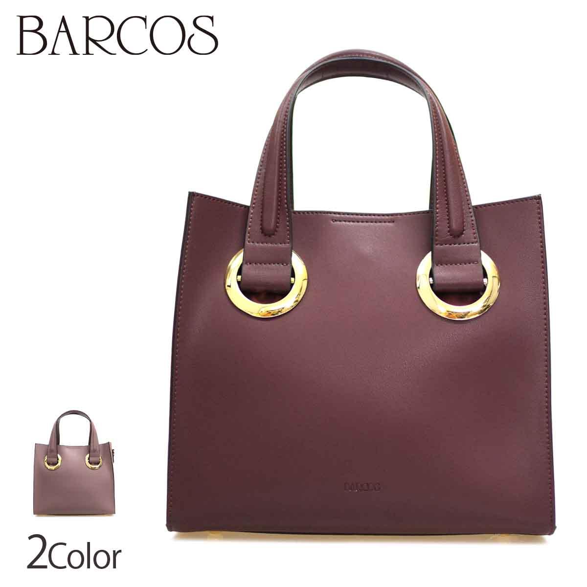 BARCOS 全2色 ONESIZE バルコス レディース 2WAY金具デザインバッグ