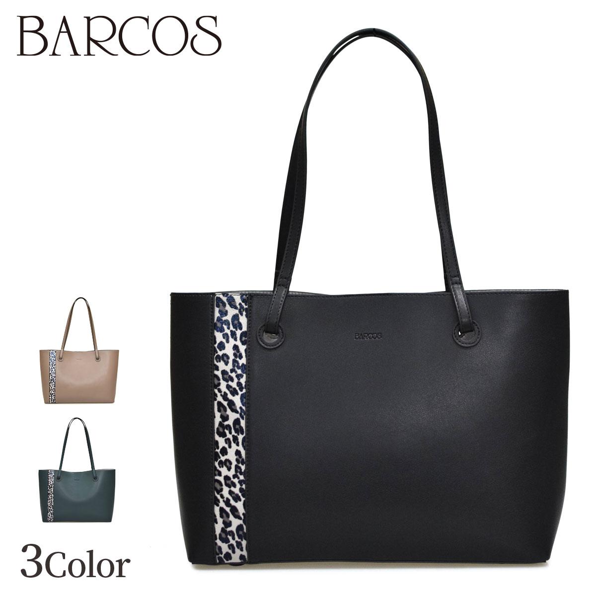 レオパード柄切り替えしトートバッグ バルコス 全3色 レディース BARCOS ONESIZE