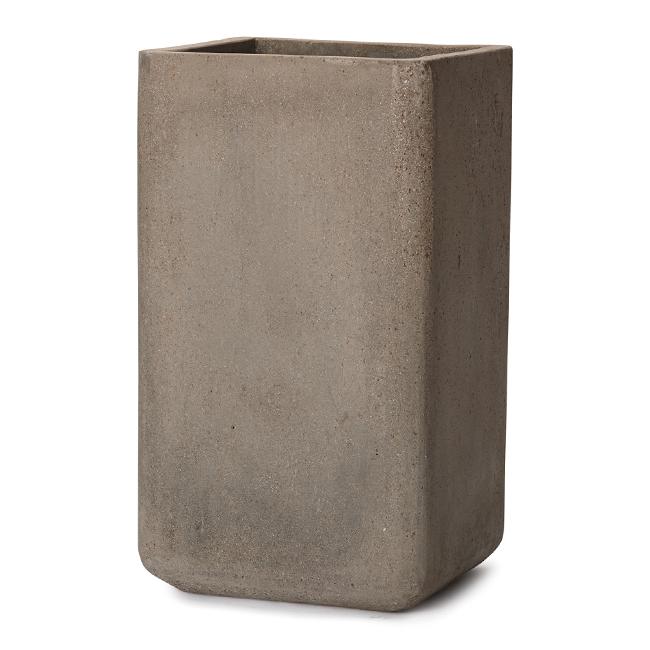 ストーンのような質感のタワー形 コルテス タワー 70 人気 おすすめ 高品質 60 2点セット ≪植木鉢 モダン≫ セメントプランター ラフ 大型