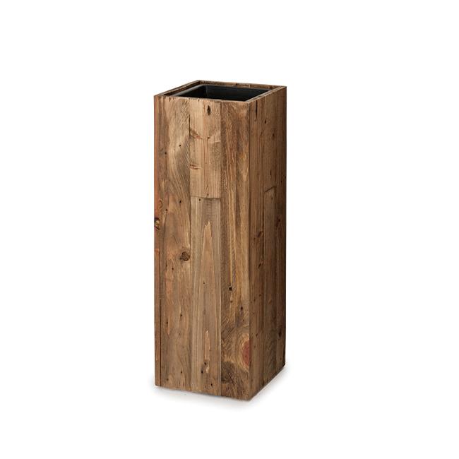 リサイクル・ウッド ピラー (樹脂インナー付) 65 ≪植木鉢/大型/おしゃれ/鉢/プランター/木製≫