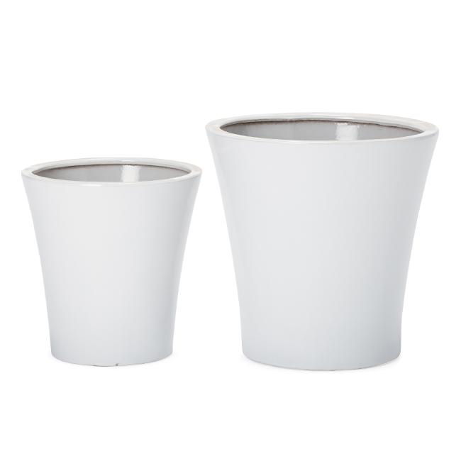ルッカ 15 ツヤ 2点セット   ≪植木鉢/陶器鉢/白磁器系≫