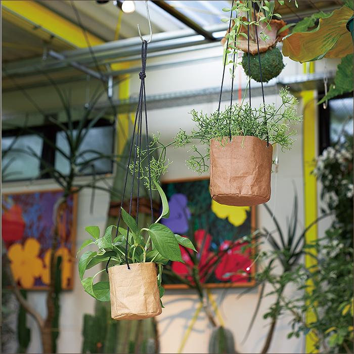 袋型が新しいプランター 限定特価 植木鉢 格安激安 クラフトペーパーポット ハンギング 12 おしゃれ かわいい 鉢カバー ガーデン雑貨 FARM4 インテリア