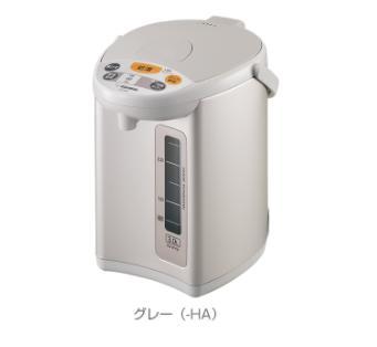 送料無料 在庫有り ZOJIRUSHI 象印 グレー マイコン沸とう電動ポット 2.2L CD-WY22-HA 100%品質保証 店
