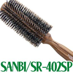 在庫一掃 柔らかい豚毛 らせん植毛 最高級の天然木柄 予約 初心者にもやさしい軽量ソフトロール 送料無料 ロールブラシ SR-402SP サンビー工業 SANBI