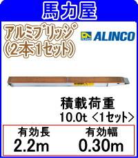 【代引不可・日時指定不可】アルインコ(ALINCO)アルミブリッジ KB-220-30-10 『10.0t』 【2本 1セット】